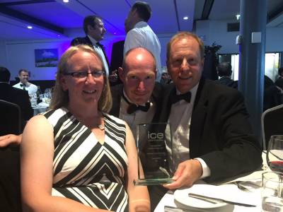 WM Longreach attended the South West ICE Awards 2017 in Bristol this month with clients Torbay Coast & Countryside Trust (Access Officer Hannah Worthington left & Director Damian Offer right).  The ICE South West Civil Engineering Awards celebrate outstanding civil engineering achievement, innovation and ingenuity around the South West.  WM Longreach shortlisted as one of 12 projects across the region won the 'Community Award.' The Community Award recognises projects that improve public space, infrastructure and enhance the living and working environment for the local community. The Cockington Lakes project was praised for its community engagement on the project, from conception to completion, together with its promotion of civil engineering and innovation to overcome difficult access and egress constraints.  The project successfully restored to their former glory the heritage lakes, a tourist site since Victorian times.